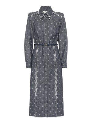 Fendi karligraphy cotton drill shirt dress