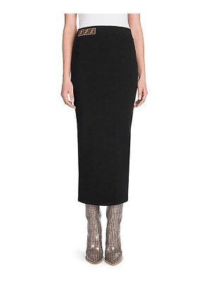 Fendi knit logo pencil skirt