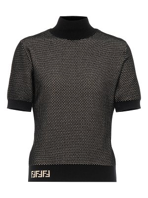 Fendi knitted mockneck top