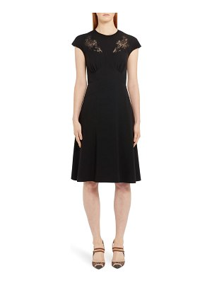 Fendi lace inset a-line dress