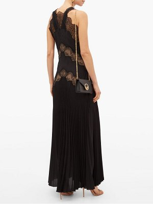 Fendi lace panelled silk jacquard dress