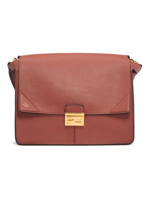 Fendi large kan u leather shoulder bag