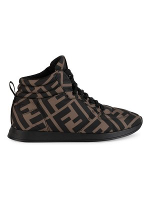 Fendi logo high-top sneakers
