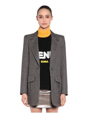 Fendi Logo printed oversized jersey jacket