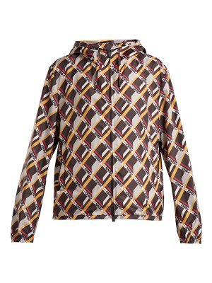 Fendi mania cube print hooded jacket
