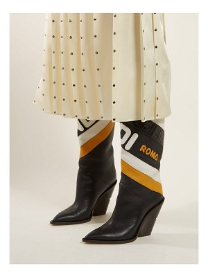 Fendi Mania Leather Knee High Boots