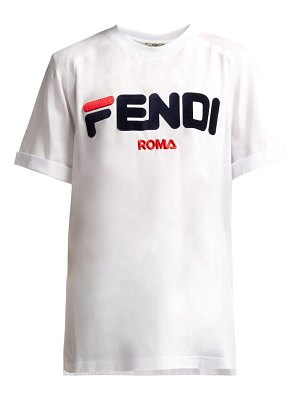 Fendi mania logo cotton t shirt