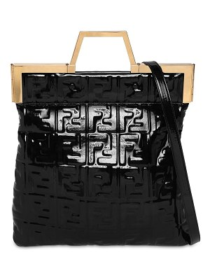 Fendi Medium embossed faux patent leather bag