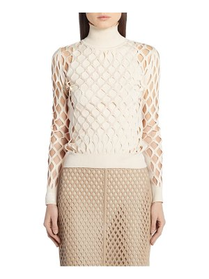Fendi mesh turtleneck sweater