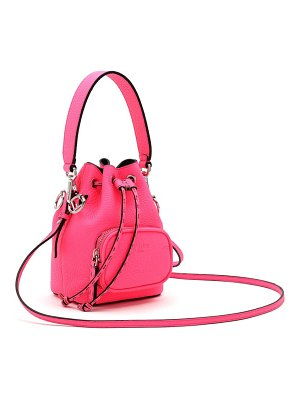 Fendi mini mon tresor leather bucket bag