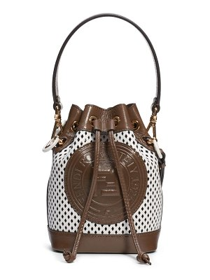 Fendi mini mon tresor perforated leather bucket bag