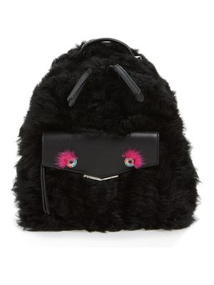 Fendi 'mini monster' genuine shearling & genuine mink fur backpack