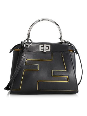 Fendi mini peekaboo leather satchel