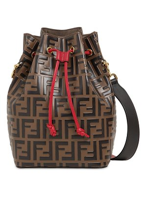 Fendi Mon tresor embossed leather bucket bag