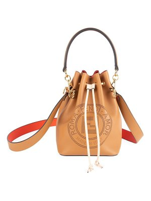 Fendi mon tresor leather bucket bag
