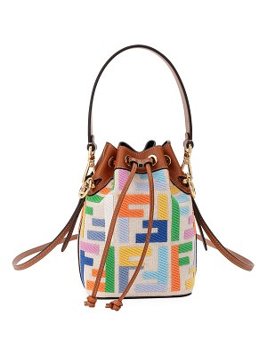 Fendi Mon Tresor Mini Canvas Kuban FF Bucket Bag
