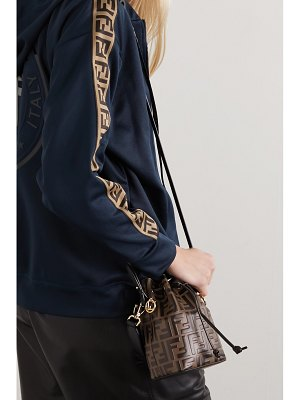 Fendi mon trésor mini embossed leather bucket bag