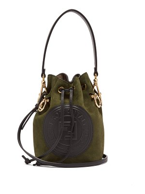 Fendi Mon Tresor mini suede bucket bag