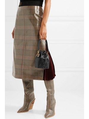 Fendi mon trésor small embossed leather bucket bag