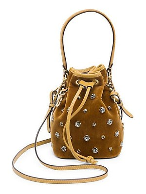 Fendi mon tresor velvet bucket bag