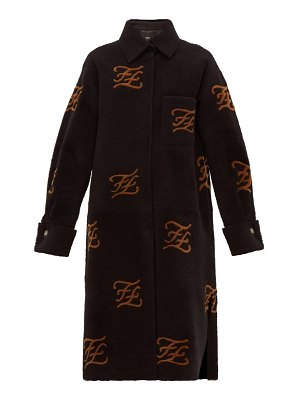 Fendi monogrammed shearling coat