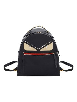 Fendi Monster Eyes Nylon & Leather Backpack