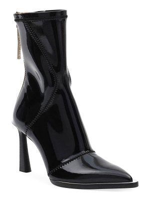 Fendi Neoprene Zip Pointed Booties
