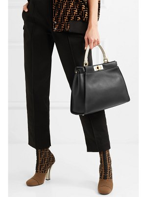 Fendi peekaboo leather tote