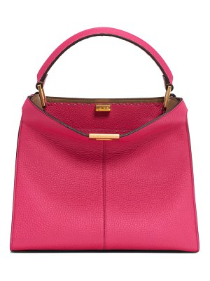 Fendi peekaboo x-lite calfskin leather satchel