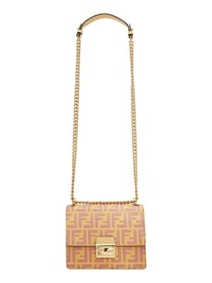 Fendi pink and beige small forever  kan u bag