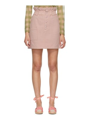 Fendi pink denim button-up miniskirt