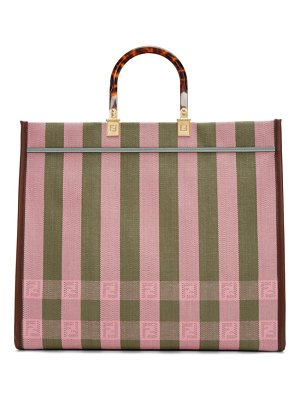Fendi pink medium sunshine shopper tote