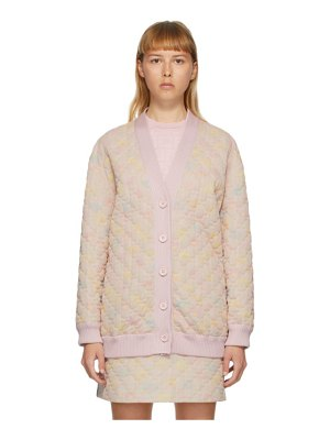 Fendi pink quilted daisies cardigan