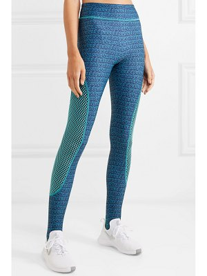 Fendi printed mesh-paneled stretch leggings
