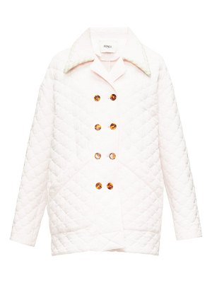 Fendi quilted-crepe double-breasted jacket