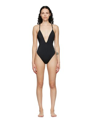 Fendi reversible brown and black forever  one-piece swimsuit