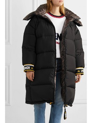 Fendi reversible printed quilted shell down jacket