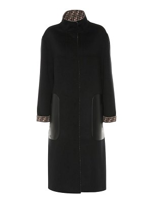 Fendi reversible wool and silk coat