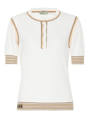 Fendi ribbed-knit silk top