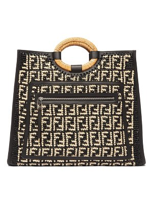Fendi runaway large ff raffia tote bag