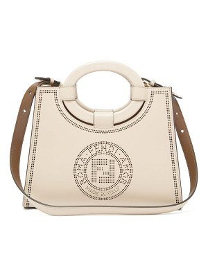 Fendi runaway perforated-logo leather bag