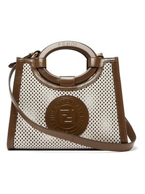 Fendi runaway small perforated leather bag