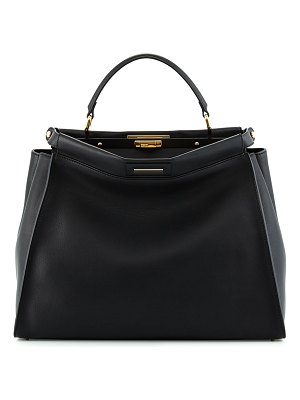 Fendi Peekaboo Large Leather Satchel Bag