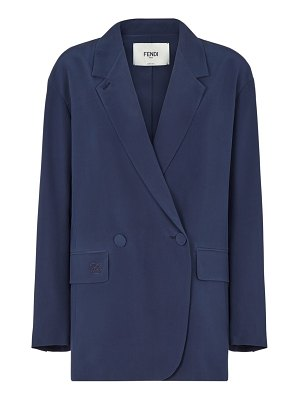 Fendi silk crepe de chine double breasted jacket