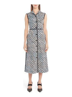 Fendi sky lines print cotton midi shirtdress