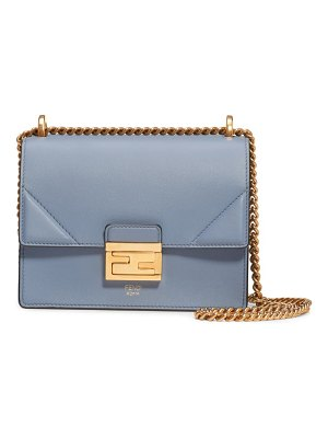 Fendi small kan u leather shoulder bag