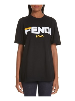 Fendi mania oversize cotton tee