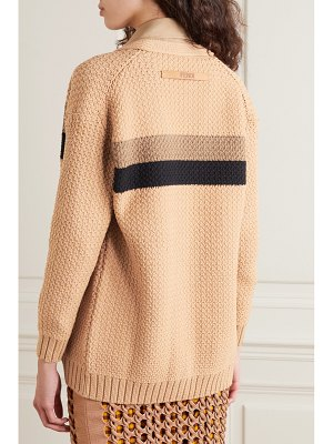 Fendi striped cotton-blend cardigan