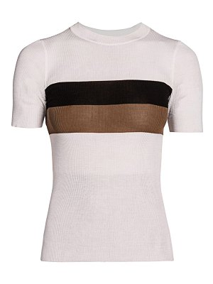 Fendi striped silk t-shirt
