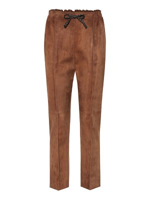 Fendi suede pants